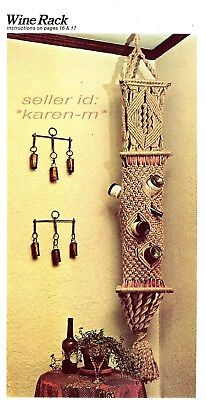 wallhanging plant hangers lanterns Wired for Macrame: wine rack Vintage book