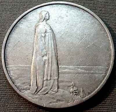 Norway 1914 Silver 2 Kroner - 1 Year Type - Damaged