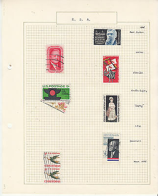 UNITED STATES Coll. On old Album Page to 1966 U...   Removed for Shipping...