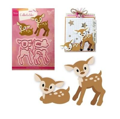 Eline's Deer Fawn Metal Die Cut Set Marianne Cutting Dies COL1401 Animals Wild
