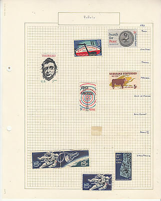 UNITED STATES Coll. On old Album Page to 1967  U...   Removed for Shipping...