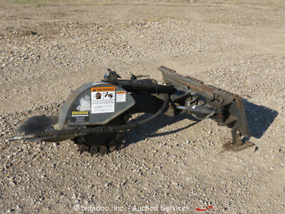2013 Erksine Skid Steer Stump Grinder Attachment High Flow 31-42 gpm bidadoo