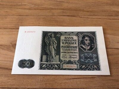 Poland 50 Zlotych From 1941 In Gem UNC Condition Stunning And Rare