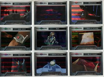 Supergirl Season 1 Complete Rainbow Foil Artifacts Chase Card Set A1-9