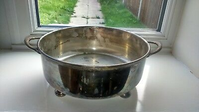 Lovely Vintage EPNS Hand Soldered Handled Ball Feet Bowl
