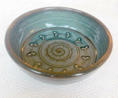 Vintage Godshill Studio Pottery Bowl Abstract Design 6In Diameter Marked