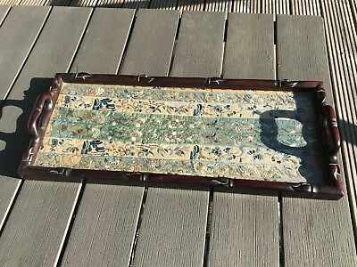 Fine Antique Chinese Silk Embroidered Sleeve Band Panel Framed 19Thc Gold Wire