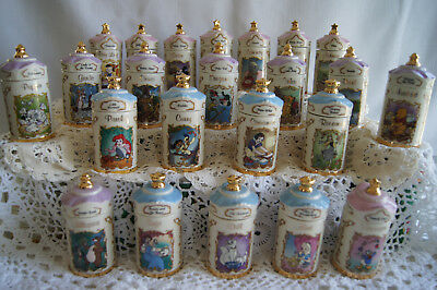 LENOX Walt Disney Spice Jar Collection Complete set of 24 MINT Condition