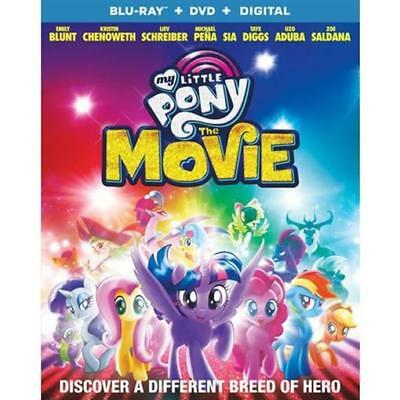 My Little Pony: The Movie (Blu-ray Disc, 2018, 2-Disc Set) NEW