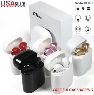 i7S TWS Twins Wireless Bluetooth Earbuds In-ear Earphone for iPhone Samsung