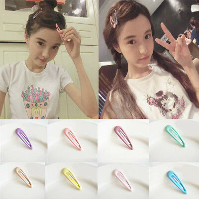 5pcs Cute Candy Color Kids Girl Metal Hair Clip Hairpins Barrette Gift Jelly Pin