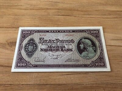Hungary 100 Pengo From 1945 In UNC Condition Stunning And Rare Rare