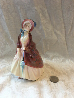 "Vtg Royal Doulton PAISLEY SHAWL English Lady Porcelain China 6"" Figurine HN 1988"