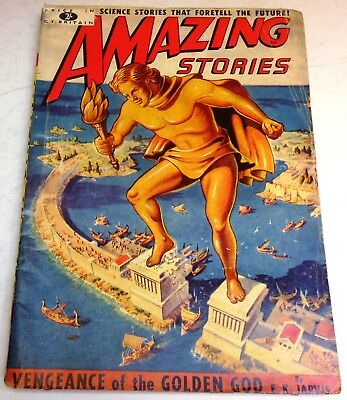 Amazing Stories #10 – UK pulp – March 1952 - Simak, Jones, Jarvis