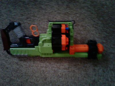 Nerf Doominator Zombie Strike Dart Gun Green and Orange Tested Works Great