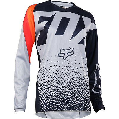 Fox - 180 Grey/Orange Youth Girl Jersey - X-Large