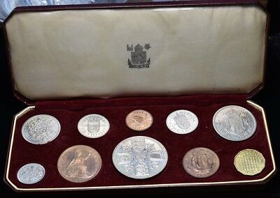 1953 Great Britain Proof Set - 10 Coins KM #PS25