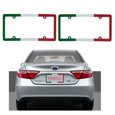 Plain BLACK Metal Blank Car License Plate Frame