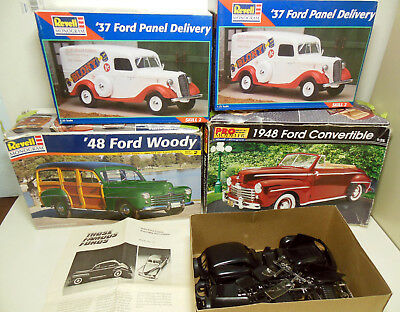 Lot of 5 Ford Model Kits Parts 3 x 1948 Ford & 2 x 37 Panel