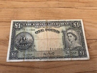 Bahamas 1 Pound In Fine Condition