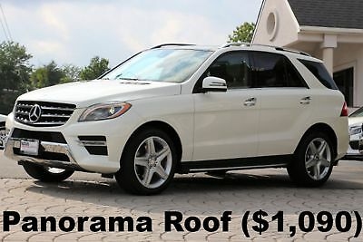 "Mercedes-Benz ML-Class ML400 4Matic 2015 Designo Diamond White Metallic Panorama Roof 20"" AMG Wheels Xenon Lights"