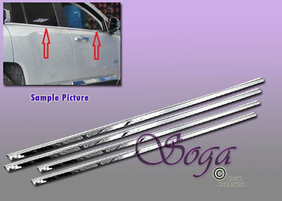 """fits 2007-2017 Jeep Patriot 4Pc Flat Stainless Steel Body Side Molding Trim 1/"""""""