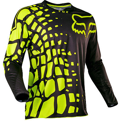Fox - 360 Grav Black/Yellow Men Jersey - Large