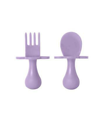 grabease First Self Feeding Utensil Set of Spoon and Fork for Toddler and Baby