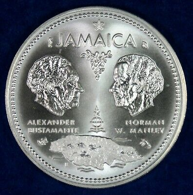 1972 Jamaica $10 Dollars Sterling Silver Commemorative Coin