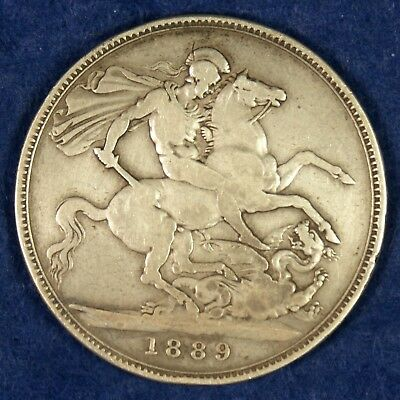 1889 Great Britain Silver 1 Crown Coin