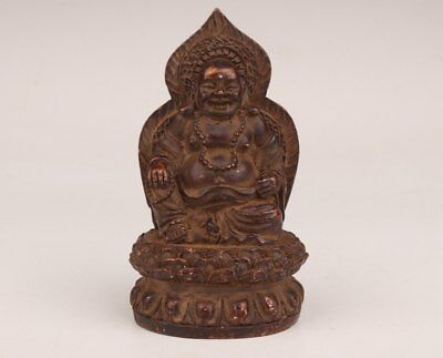 Bronze Casting Rare Old Chinese Buddhist Buddha Maitreya Statue Collection