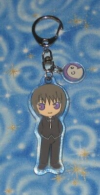 Yuki Fruits Basket Anime Die Cut Character Key Chain Official Release Excellent