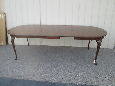 """57283-T9   HICKORY Furniture Solid Mahogany Dining Table +3 leafs  97"""" x 42"""" Top"""