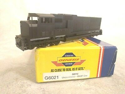 HO Scale Athearn Genesis SD75I Diesel Locomotive - undecorated (BNSF cab)