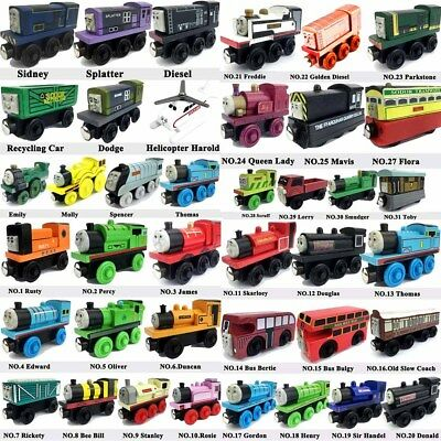 The Tank Engine Tender Wooden Magnetic Railway Train Car Toys Truck Kids Gifts Z