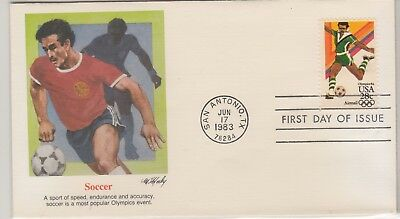 UNITED STATES 1983-4 OLYMPIC FDI Cover Soccer