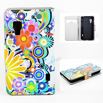 Magnetic Wallet Card Leather Cover Stand Case For LG Optimus L5 II Dual E455