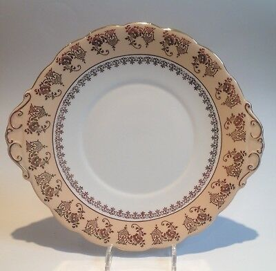 Roslyn vintage China cake plate peach gold gilded apricot blush