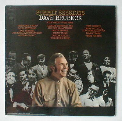 Lp Dave Brubeck Summit Sessions With Special Guest Stars Armstrong Mulligan...