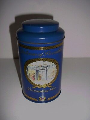 Jacksons of Piccadilly Coronation Tea Tin 16cms Collectable Advertising