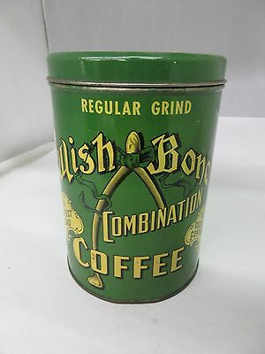 Vintage Wishbone Coffee With Original Lid  Advertising Collectible   317-F