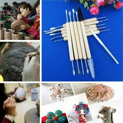 Clay Modelling Tools set Wooden Clay Sculpture Wax Carving Pottery Tool LC