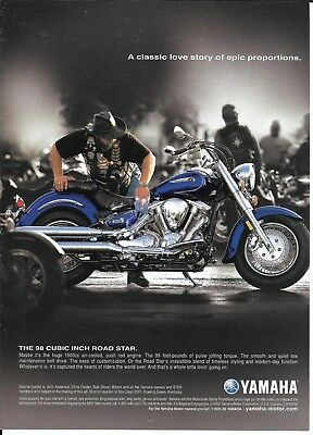 2002 Yamaha The 98 Cubic Inch Road Star Motorcycle Ad