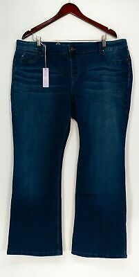Hot in Hollywood by Laurie Felt Silky Denim Jeans Boot Cut Petite Style A279102