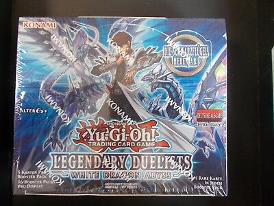 LEGENDARY DUELISTS WHITE DRAGON ABYSS BOOSTERDISPLAY  YU GI OH DEUTSCH!!! ovp