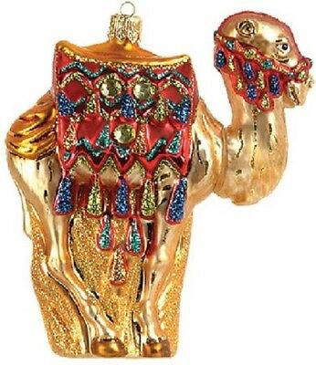 Camel Polish Glass Christmas Ornament Made in Poland Decoration