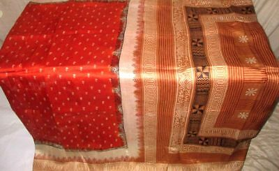 Rust Coffee Pure Silk 4 yard Vintage Sari Saree HOT BARGAIN DEAL US Style #9A21R