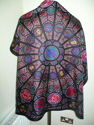 Past Times / Beckford Silk.  A Stunning Stained Glass Design Vintage Silk Scarf
