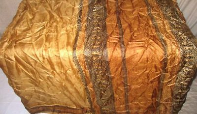 Cream Brown Pure Silk 4 yard Vintage Sari Saree HOT BARGAIN DEAL Stylish #9A22L
