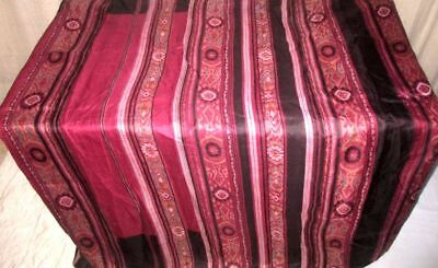 Maroon Coffee Pure Silk 4 yard Vintage Sari Saree SALE DEAL Low Price NR #9A23D